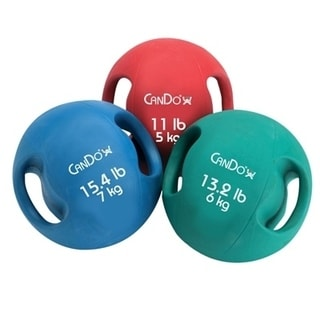 CanDo® Molded Dual Handle Medicine Ball