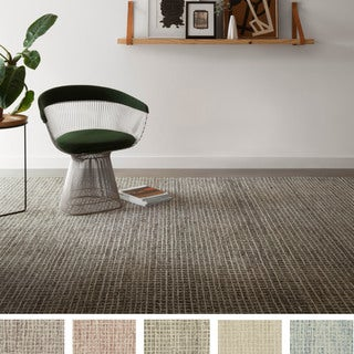 Alexander Home Mosaic Tile Earth Tone Wool Hand-hooked Area Rug (7'9 x 9'9) - 7'9 x 9'9