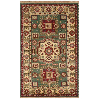 Handmade Herat Oriental Indo Hand-Knotted Kazak Wool Rug (India) - 3' x 5'