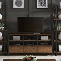 Corey Rustic Brown TV Stand Console Tables by iNSPIRE Q Modern