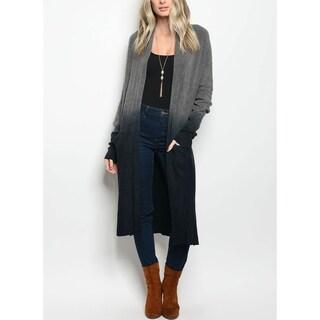 JED Women's Ombre Knit Longline Cardigan