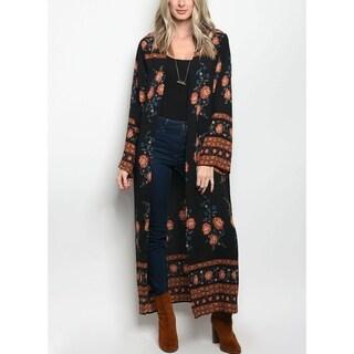 JED Women's Floral Maxi Kimono Cardigan