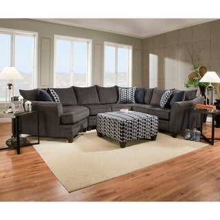 Simmons Upholstery Albany Pewter Sectional Free Shipping