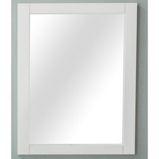 Home Elements M2430WT 24 x 30-Inch Cream White Mirror