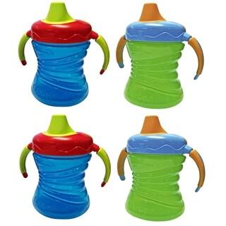 Gerber Graduates 7 Ounce Fun Grips Soft Spout Trainer Cup - 4 Count - Blue/Green