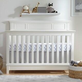 Kolcraft Harper White Wood 4-in-1 Convertible Crib