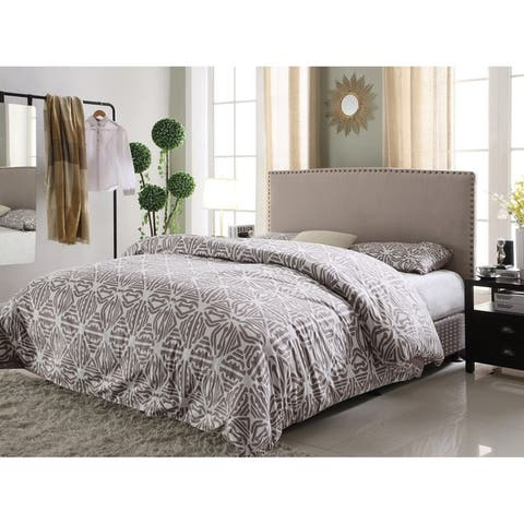 Best Master Furniture YY1001 Upholstered Twin Panel Head Board