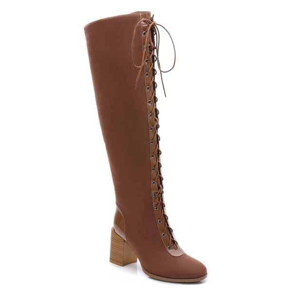 Rosewand Women's 'Calai' Lace-up Riding Boots. Opens flyout.