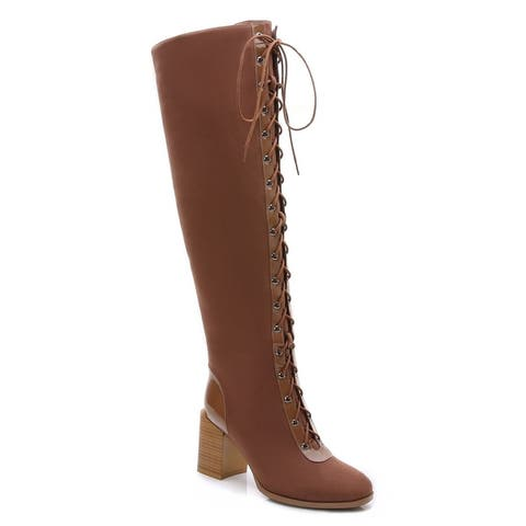 Rosewand Womens Calai Lace-up Riding Boots