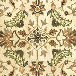 Hand-tufted Patina Beige/ Black Wool Rug (6' Octagon)
