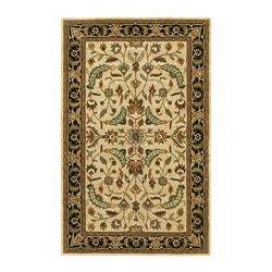Hand-tufted Patina Beige/Black Wool Rug (8' x 11') - Thumbnail 0