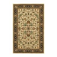 Hand-tufted Patina Beige/Black Wool Rug (8' x 11') - 8' x 11'