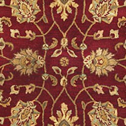 Hand-tufted Agra Red/ Gold Wool Rug (5' x 8')