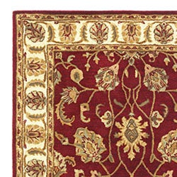Hand Tufted Agra Red Gold Wool Rug 5 X 8 Free