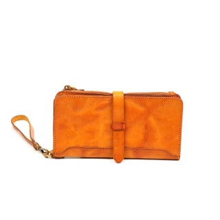 Old Trend Casey Leather Clutch - S (Option: Tan - Zipper - Leather)