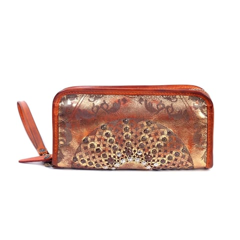 Old Trend Golden Mola Genuine Leather Clutch - Small