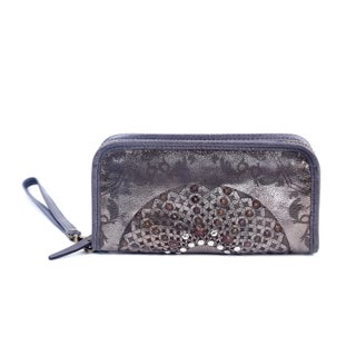Old Trend Golden Mola Leather Clutch - S