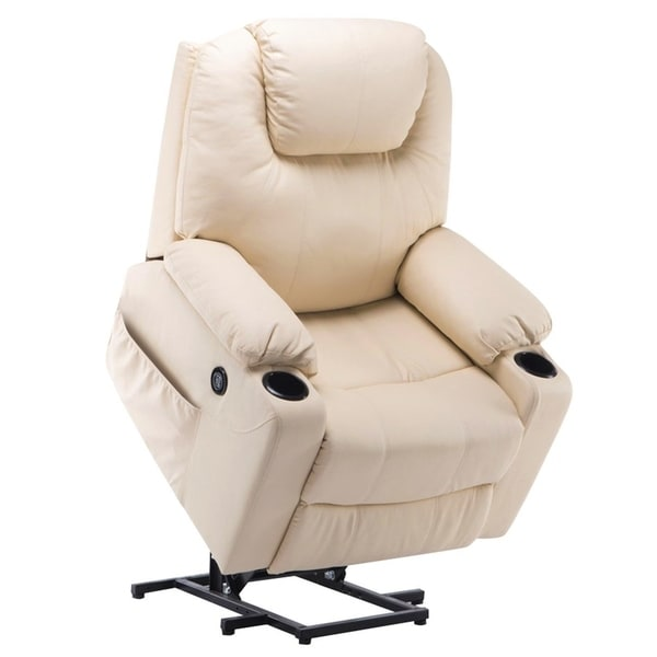 Shop Electric Power Lift Massage Sofa Recliner Heated Chair Lounge W