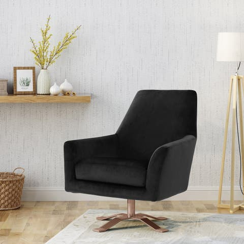 Ailis Modern Velvet Swivel Club Chair by Christopher Knight Home