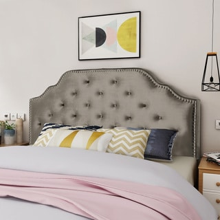 Silas Adjustable Queen/ Full Tufted Velvet Headboard by Christopher Knight Home