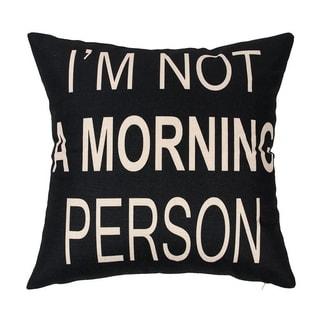 Cotton Linen 'No Morning Person' 18-inch Pillowcase