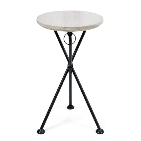 Los Feliz Outdoor Round Portable Foldable Acacia Wood Side Table by Christopher Knight Home