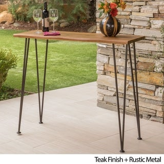 Denali Outdoor Rectangle Bar Table By Christopher Knight Home On Free Shipping Today 19516832