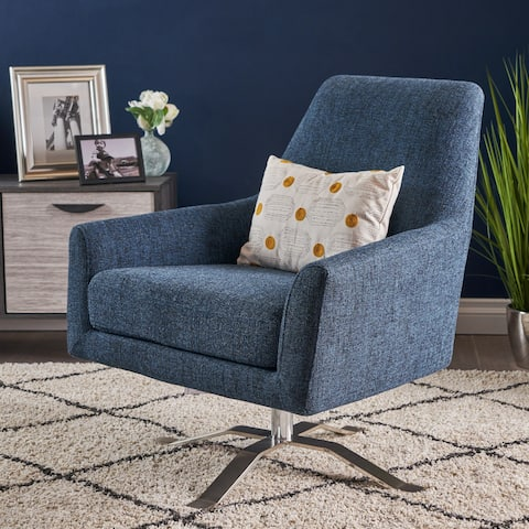 Ailis Modern Fabric Swivel Club Chair by Christopher Knight Home
