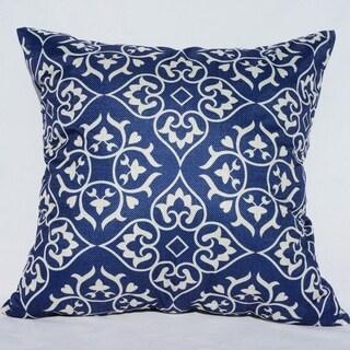 Blue Floral Cotton Linen Pillowcase