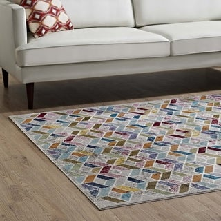 Laleh Colorful Geometric Mosaic Area Rug - 5' x 8'