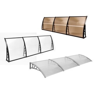 "120"" Window Awning Outdoor Polycarbonate Front Door Patio Cover Canopy"