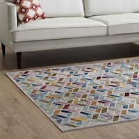 Laleh Colorful Geometric Mosaic Area Rug - 8' x10'