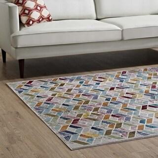 Laleh Colorful Geometric Mosaic Area Rug - 8' x 10'