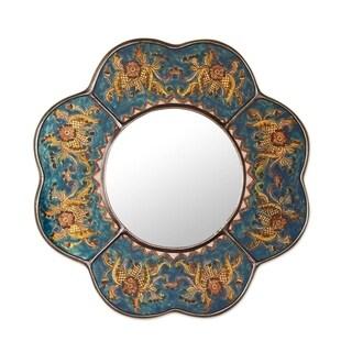 Mirror, 'Blue Cajamarca Blossom' (Peru)