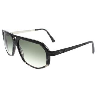 20770d4217 Cazal Aviator Cazal 8021 003SG Unisex Black Havana Frame Green Lens  Sunglasses