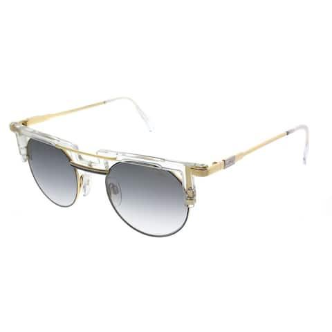 Cazal Round Cazal 745 Legends 005SG Unisex Crystal Frame Grey Gradient Lens Sunglasses