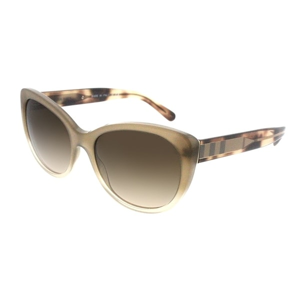 5aec240347ff Shop Burberry Cat-Eye BE 4224 335413 Women Beige Gradient Frame Brown Gradient  Lens Sunglasses - Free Shipping Today - Overstock - 19518754