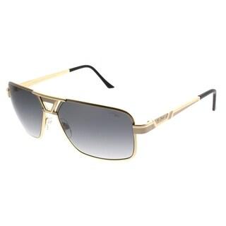 Cazal Rectangle Cazal 9071 003SG Unisex Gold Frame Grey Lens Sunglasses