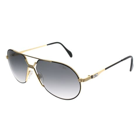 Cazal Oval Cazal 968 Legends 001SG Unisex Black Frame Grey Gradient Lens Sunglasses