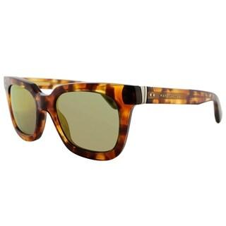 Marc Jacobs Square MJ 437S 6J5 UW Unisex Havana Gold Frame Gold Mirror Lens Sunglasses