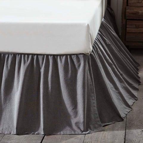 Black Chambray Bed Skirt