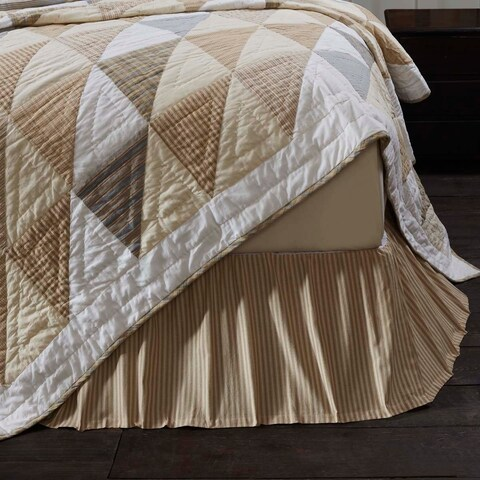 Joanna Ticking Stripe Bed Skirt