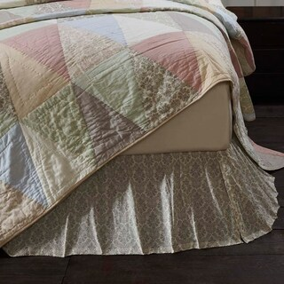 Ava Cotton Damask Bedskirt