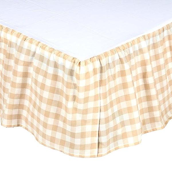 Farmhouse Bedding VHC Annie Buffalo Check Bed Skirt Cotton Buffalo Check Gathered