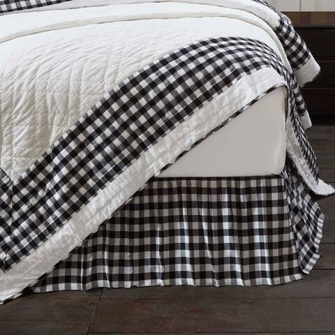 Farmhouse Bedding VHC Annie Buffalo Check Bed Skirt Cotton Buffalo Check Gathered