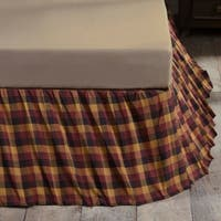 Primitive Check Bed Skirt