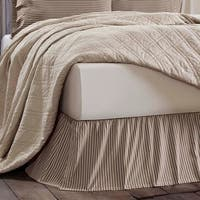 Farmhouse Bedding VHC Kendra Stripe Bed Skirt Cotton Striped Gathered