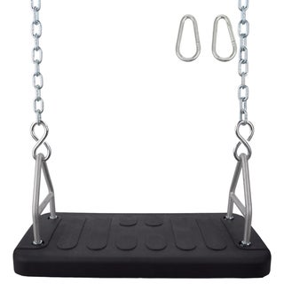 Swing Set Stuff Inc. Rubber Flat Seat with 5.5 Ft. Uncoated Chain