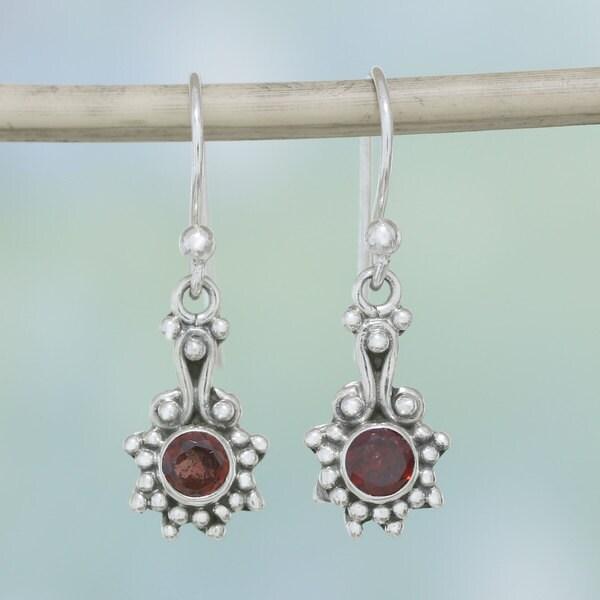Shop Handmade Sterling Silver Cherry Dots Garnet