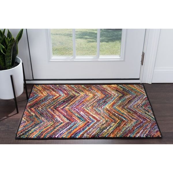 Chevron Kitchen Rug: Shop Alise Rugs Rhapsody Contemporary Chevron Scatter Mat